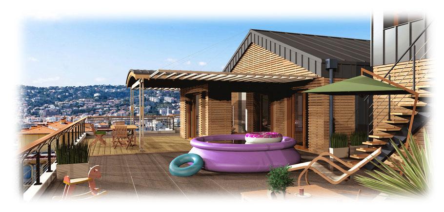 illustration promoteur immobilier en 3 D ocoeurdesplans