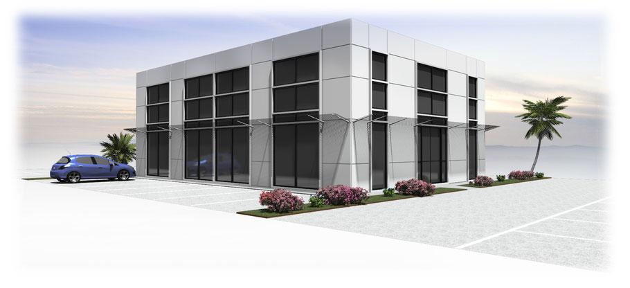 imagerie d'architecture industrielle en 3D