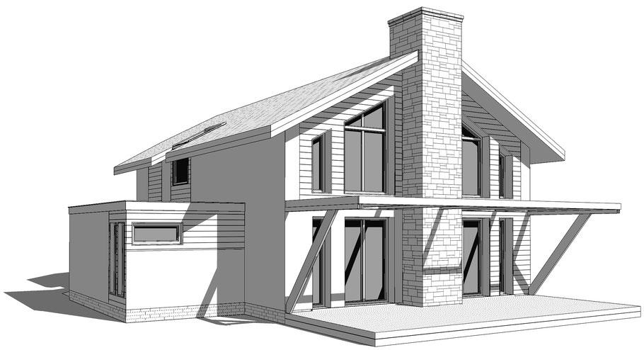 maison en ossature bois région annecy, ocoeurdesplans