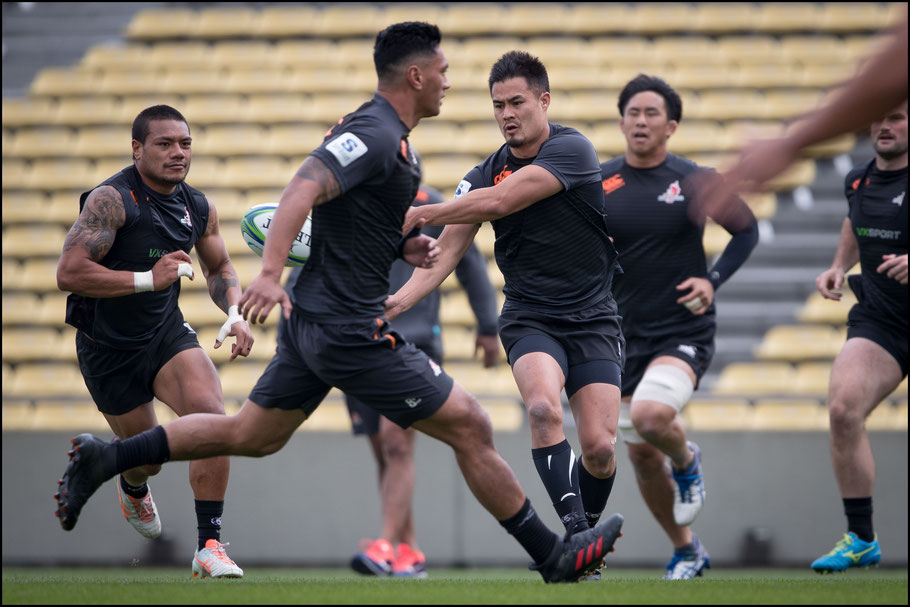 Sunwolves train at the captain's run ahead of the game against Waratahs – Sachiyo Karamatsu Inside Sport: Japan, April 6th, 2018