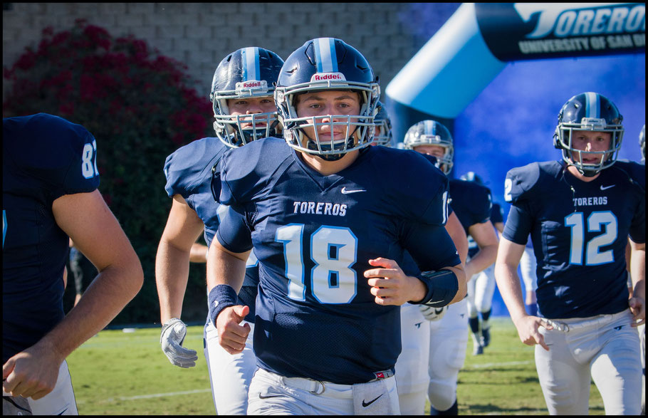 Anthony Lawrence with the Toreros - Photo courtesy of USD Athletics