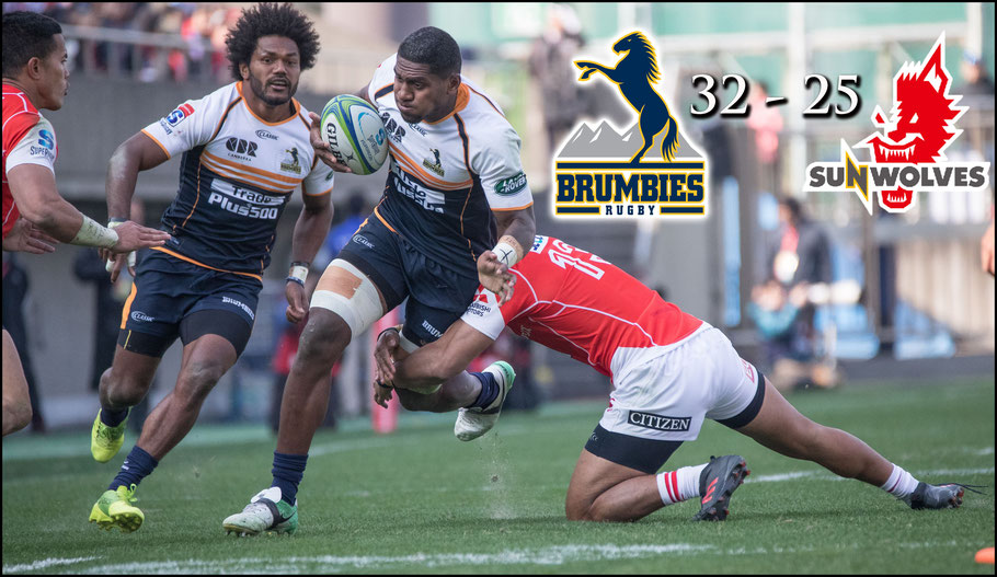 Brumbies overcame a halftime deficit to defeat Sunwolves – Sachiyo Karamatsu, Inside Sport: Japan, Feb 24th, 2018