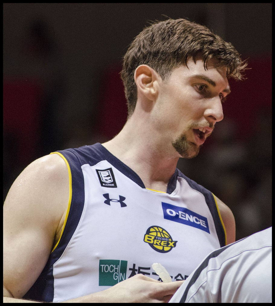 Brex center Ryan Rossiter was the league's top rebounder — Chris Pfaff, Inside Sport: Japan, May 5, 2017