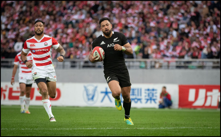 Matt Proctor scores for the All Blacks - Sachiyo Karamatsu, Inside Sport: Japan, Nov 3, 2018