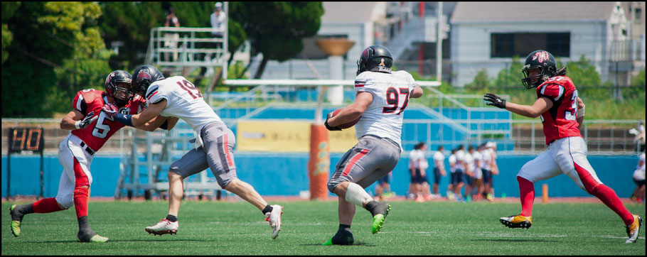RB Teppei Takayanagi gained 71 yards on 15 carries and had a TD - Lionel Piguet, Inside Sport: Japan, May 20, 2017
