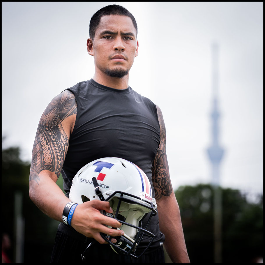 QB Ikaika Woolsey at Tokyo Gas Creators' training ground — John Gunning, Inside Sport: Japan, August 12, 2018