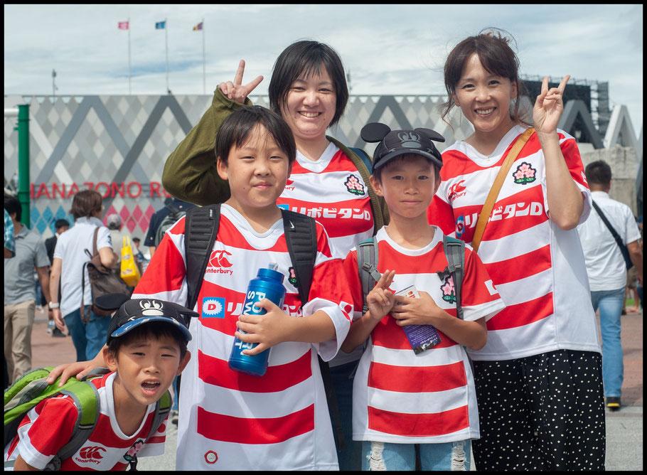 A family of Brave Blossom fans – Lionel Piguet, Inside Sport: Japan, Sept 22, 2019