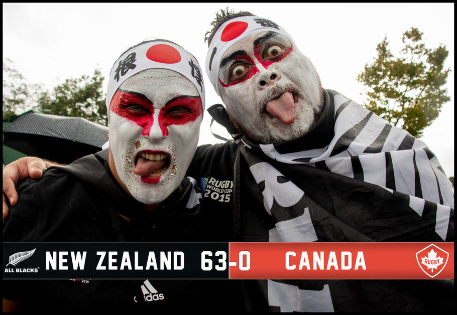 All Blacks fans before the game with Canada – Sachiyo Karamatsu, Inside Sport: Japan, Oct 2, 2019