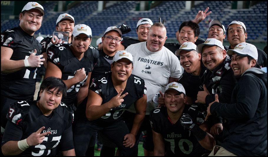 Fujitsu's powerful OLine – John Gunning, Inside Sport: Japan, Dec 18th, 2017