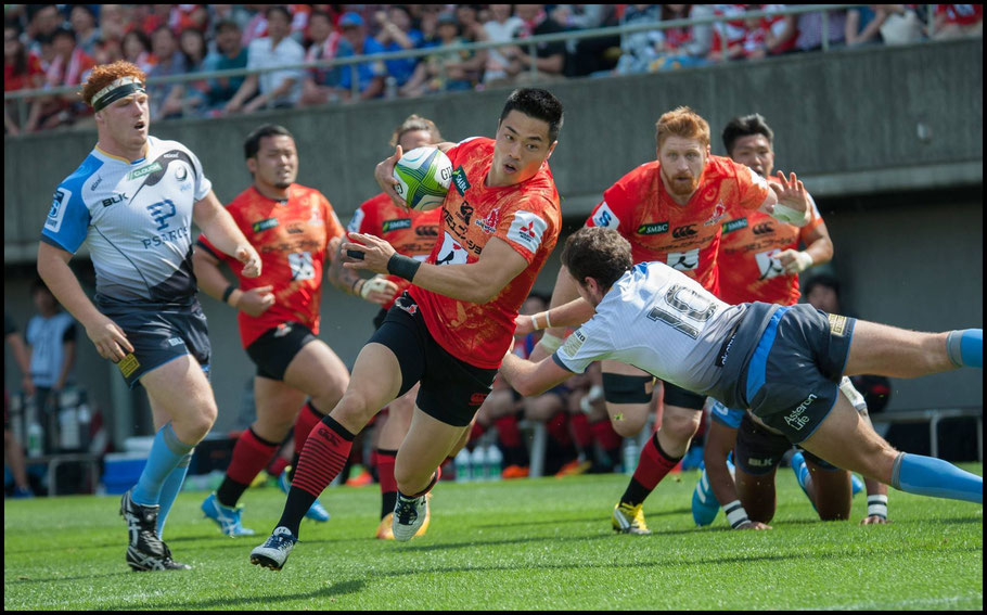 Sunwolves first jersey featured a wolf background – John Gunning, Inside Sport: Japan, May 7th, 2016