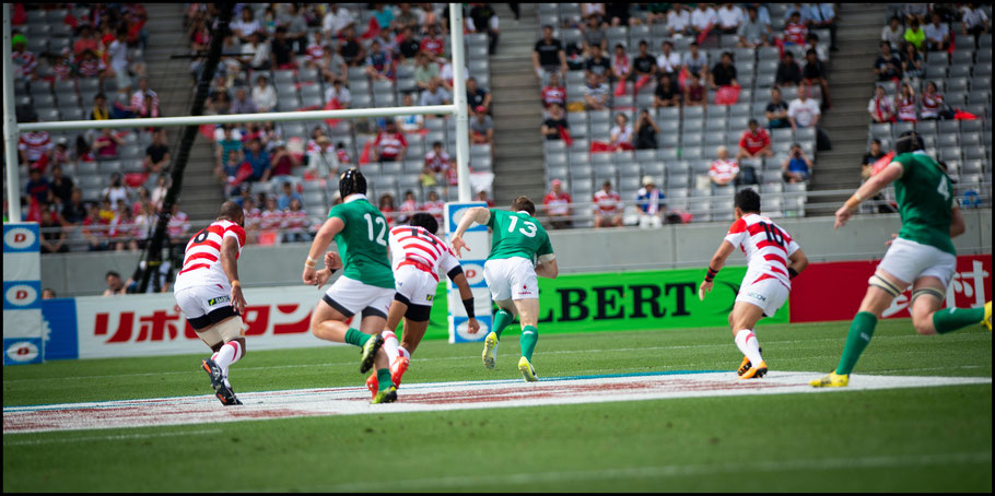 Garry Ringrose scores after a Japanese handling error with just three minutes gone - John Gunning, Inside Sport: Japan, June 24, 2017