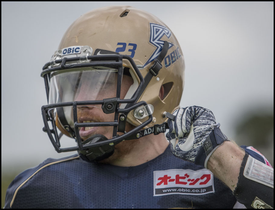 DL BJ Beatty gained 37 yards on a punt fake - Chris Pfaff, Inside Sport: Japan, Sept 24, 2017