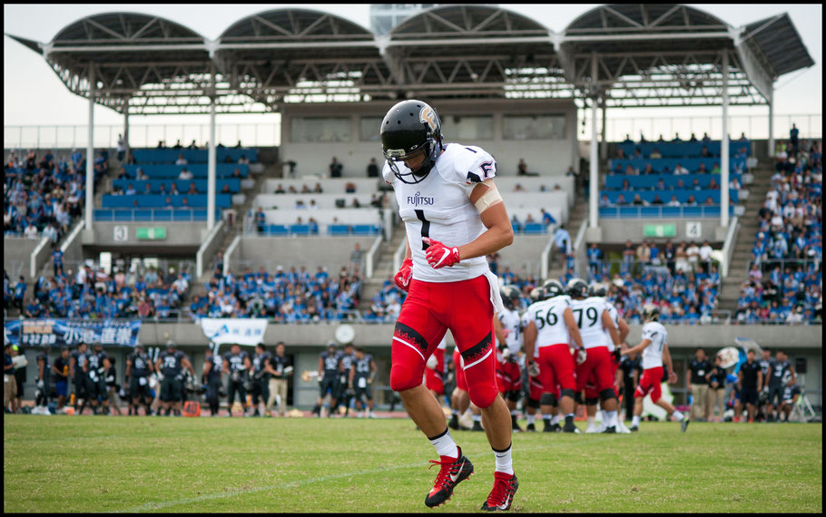 WR Sei Kyo grabbed the Frontiers only TD of the day - Lionel Piguet, Inside Sport: Japan, Oct 1, 2017
