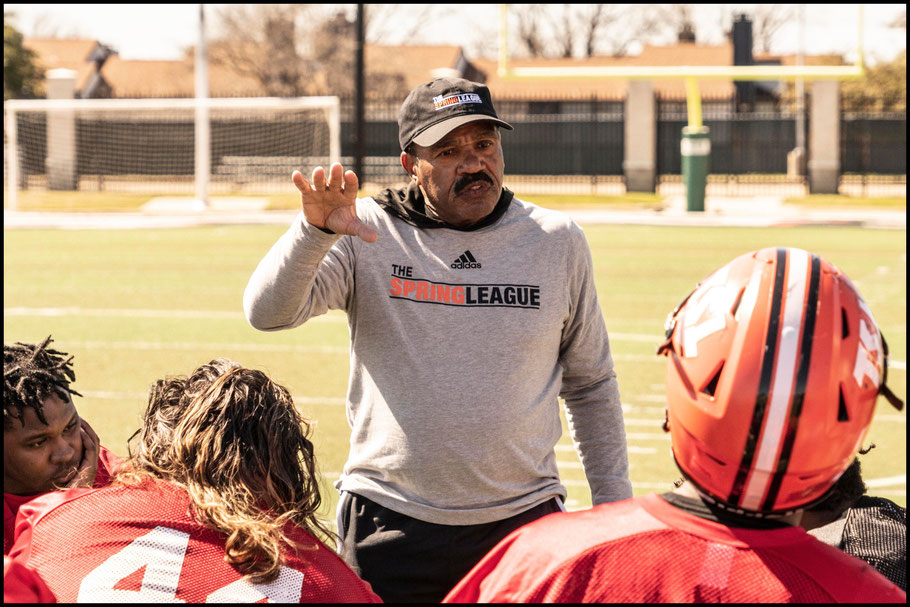 RB Coach Robert Ford – Photo courtesy of Alex Goldstick / The Spring League