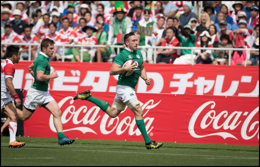 Jack Conan was one of three Irish players to get a brace of tries - John Gunning, Inside Sport: Japan, June 17, 2017