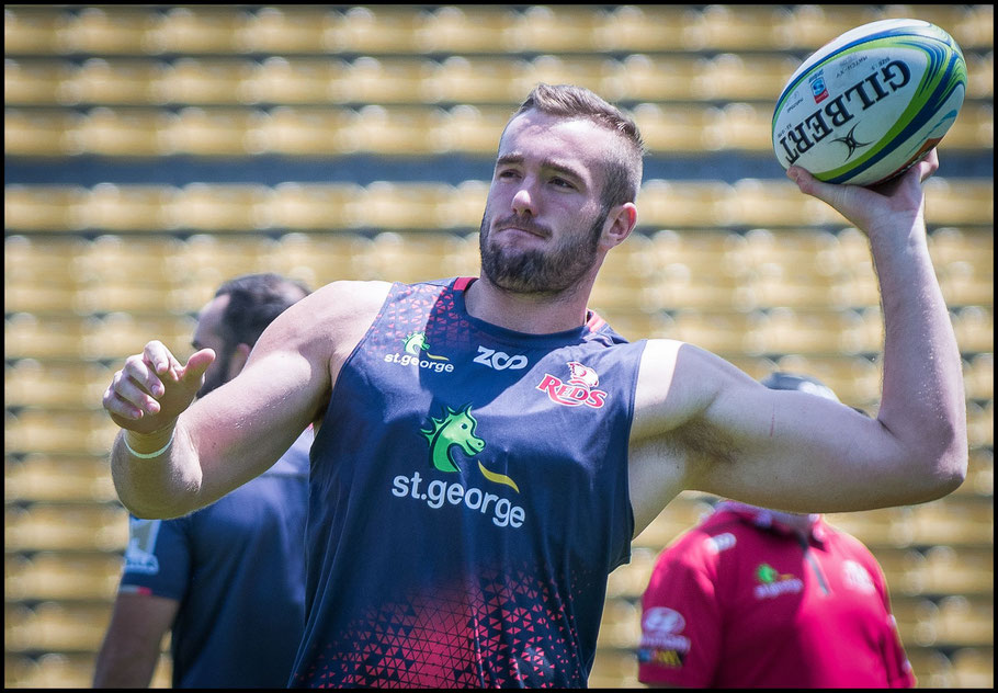 202cm tall Kane Douglas is a formidable opponent in the lineout – Chris Pfaff Inside Sport: Japan, May 11th, 2018