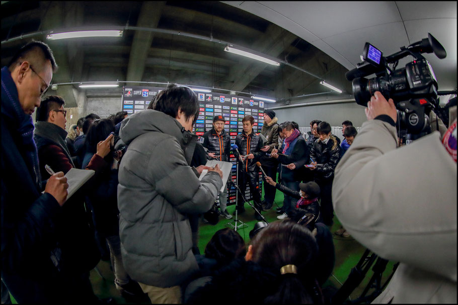 Sunwolves coach Tony Brown addresses the media  – Sachiyo Karamatsu, Inside Sport: Japan, Feb 23rd, 2018