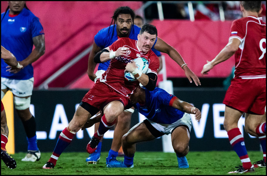 The Samoa match was a tough physical contest– Sachiyo Karamatsu, Inside Sport: Japan, Sept 24, 2019
