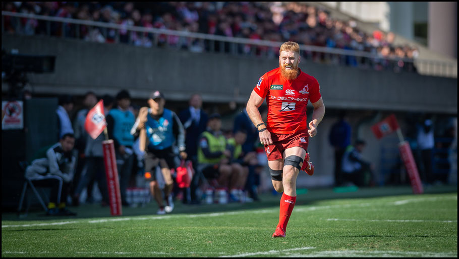 This week 2 game against Waratahs was Quirk's last action of the 2019 season - John Gunning Inside Sport: Japan, Feb 23, 2019