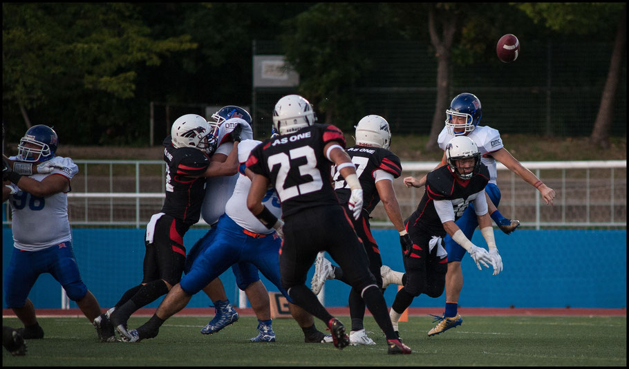 Kazuki Kawabata blocked and recovered this punt to score in the games first minute - Lionel Piguet, Inside Sport: Japan, Sept 10, 2017