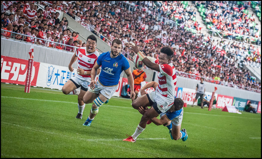 Kotaro Matsushima scored an outstanding try - Lionel Piguet, Inside Sport: Japan, June 16th, 2018