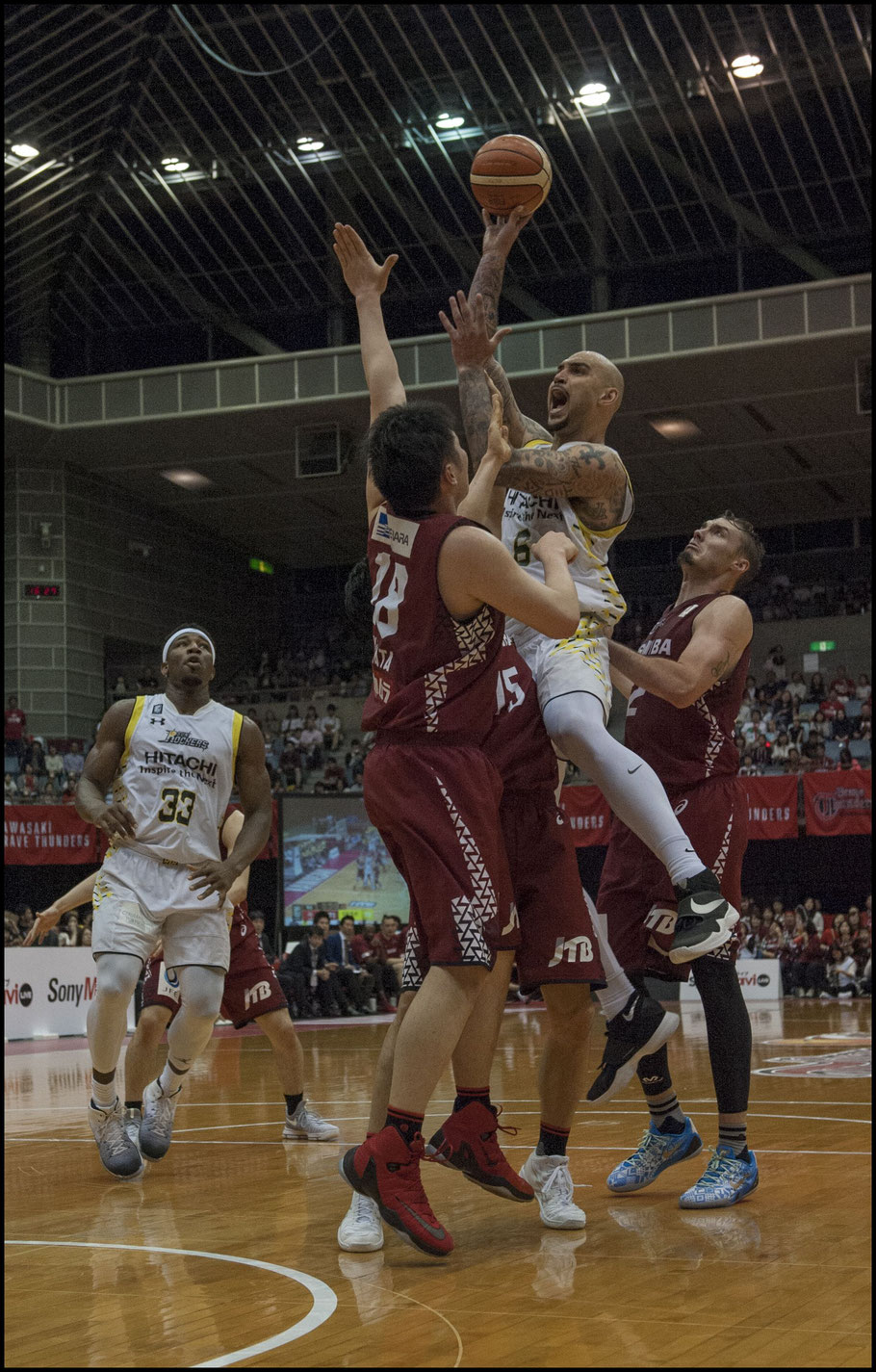 Robert Sacre was pleased with Shibuya's performance on the night - Chris Pfaff, Inside Sport: Japan, May 6, 2017