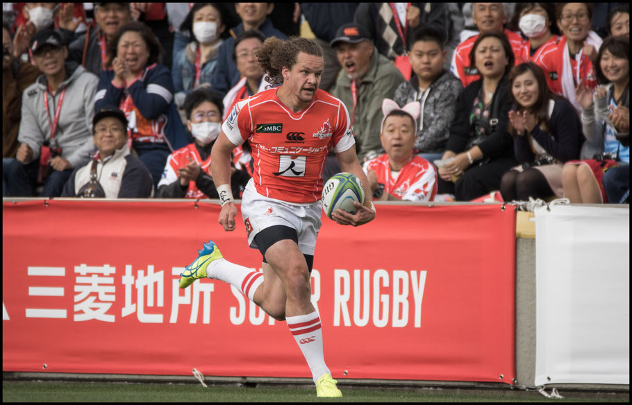 A fantastic run by Michael Little set up Sam Wykes for a try – Sachiyo Karamatsu Inside Sport: Japan, April 7th, 2018