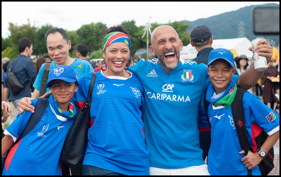 Mandene Morkel & children with Fabiano from Rome, Italy – Lionel Piguet, Inside Sport: Japan, Sept 22, 2019