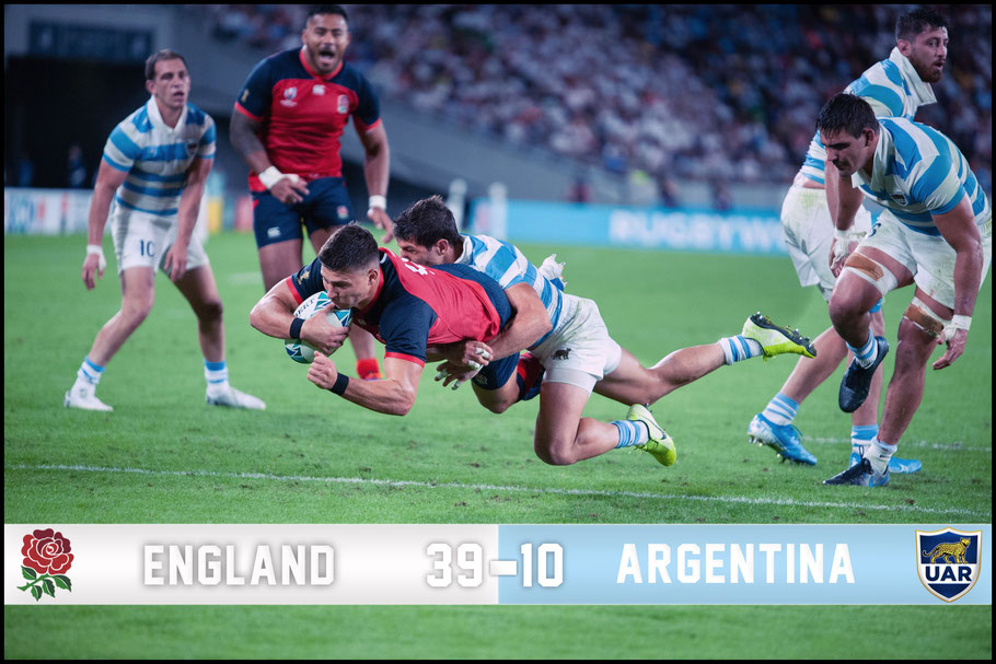 Englands task was made easier by an early red card for Argentina – John Gunning, Inside Sport: Japan, Oct 5, 2019