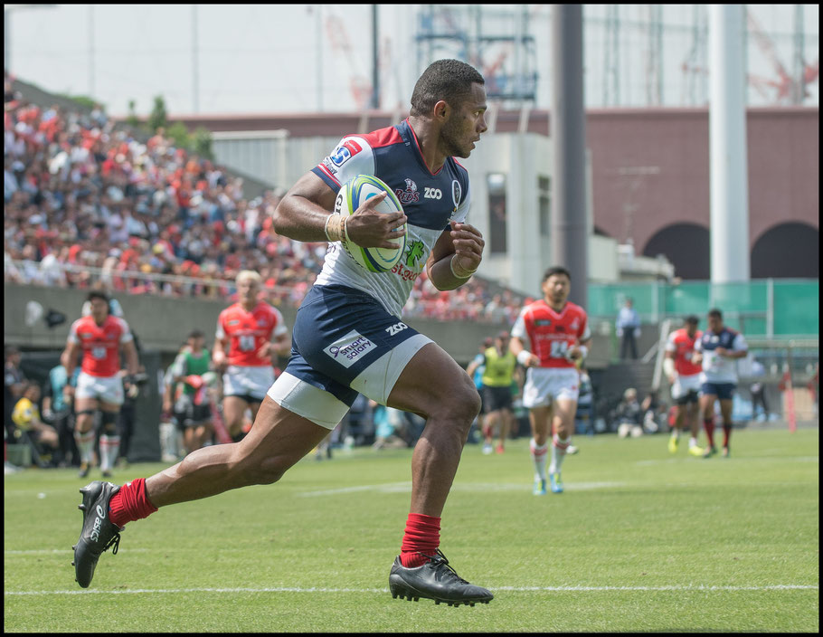 Filipo Daugunu scores after streaking down the sideline – Chris Pfaff Inside Sport: Japan, May 12th, 2018