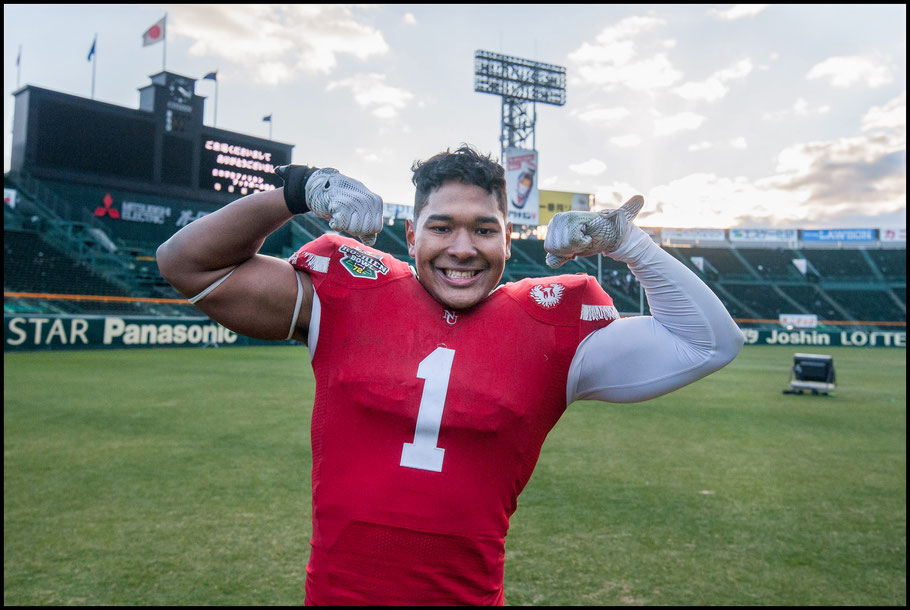 Nihon University Phoenix LB Moses Wiseman has joined Panasonic – Lionel Piguet, Inside Sport: Japan, Dec 17, 2017