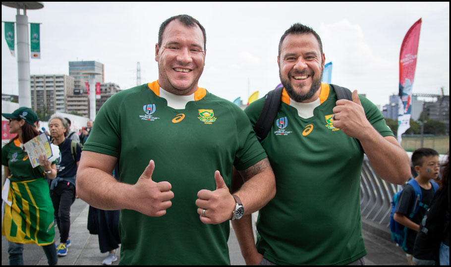 Raymond and Izzy Swartz travelled from South Africa – Sachiyo Karamatsu, Inside Sport: Japan, Sept 21, 2019