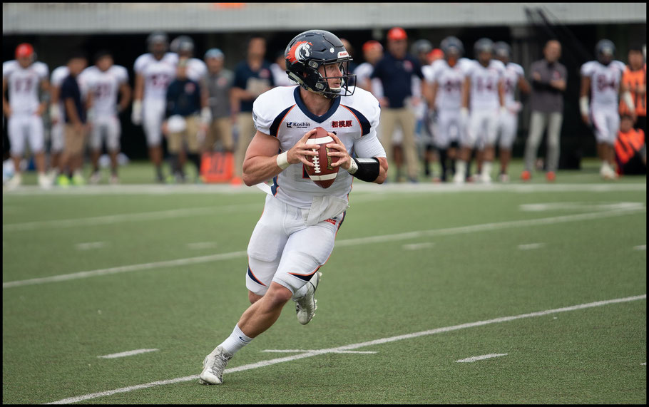 Rise QB Jimmy Laughrea in action in the Pearl Bowl – John Gunning Inside Sport: Japan, June 2, 2019