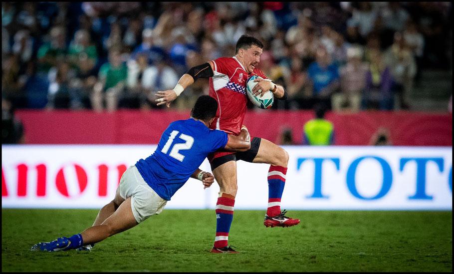Artemyev in action against Samoa – Sachiyo Karamatsu, Inside Sport: Japan, Sept 24, 2019