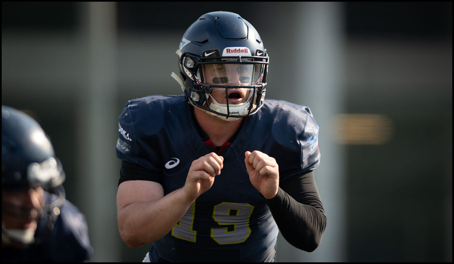 Finies QB Cody Sokol during the Green Bowl final – Lionel Piguet, Inside Sport: Japan, May 26, 2019