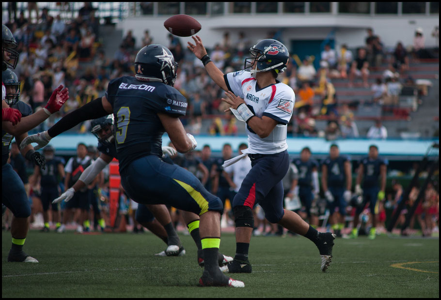Nagoya QB prevent a shutout with a late TD pass - Lionel Piguet, Inside Sport: Japan, Sept 10, 2017