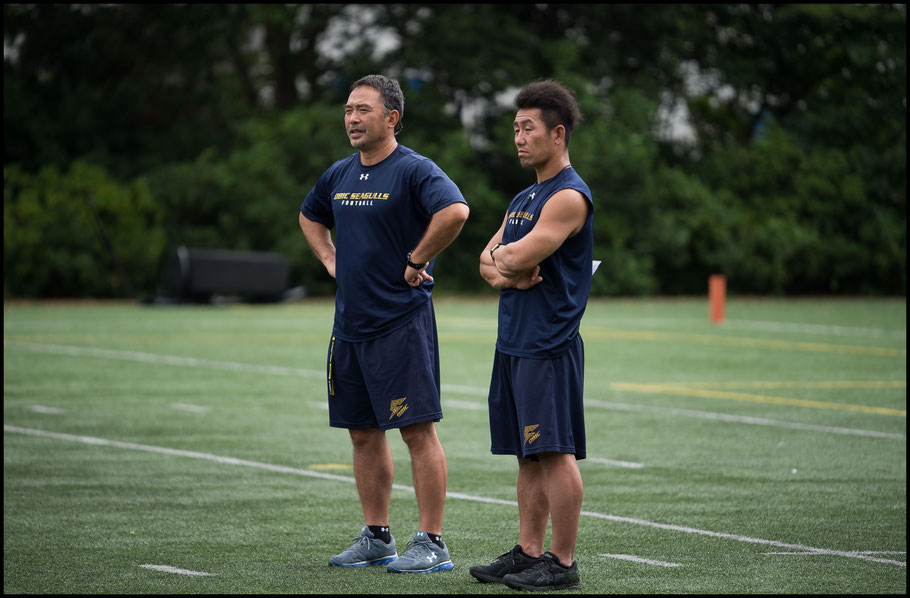 Naoki Kosho (right) who took over as HC from Makoto Ohashi (left) has one career tackle more than Jackson— John Gunning, Inside Sport: Japan, Aug 20, 2017
