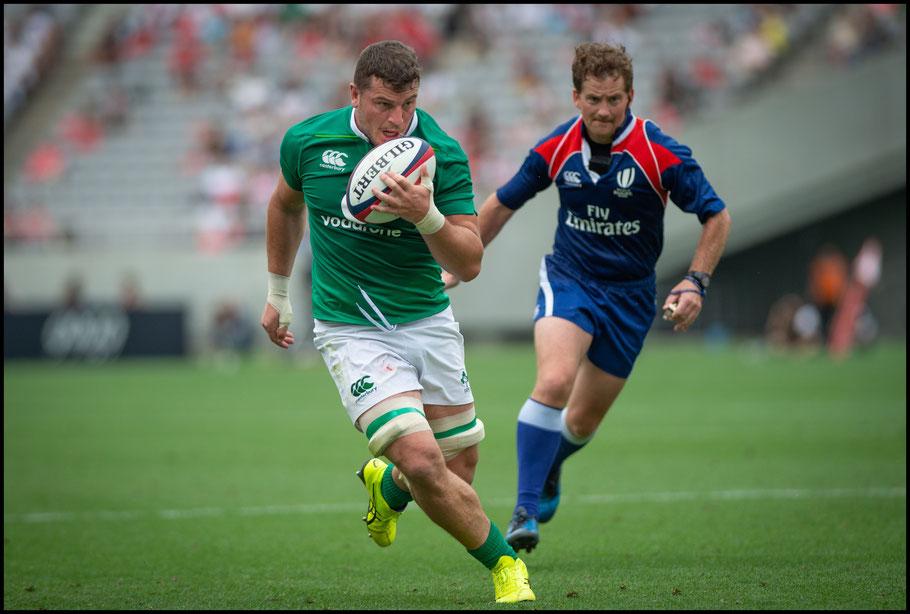 Sein Reidy scores a late try for Ireland- John Gunning, Inside Sport: Japan, June 24, 2017