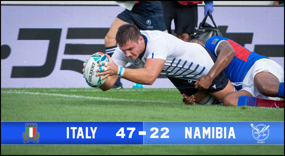Try for Italy – Lionel Piguet, Inside Sport: Japan, Sept 22, 2019