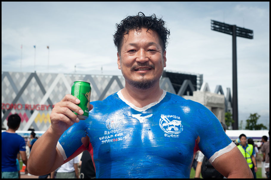 Hiroshi Moriyama intends to do body paint for all 20 teams – Lionel Piguet, Inside Sport: Japan, Sept 22, 2019