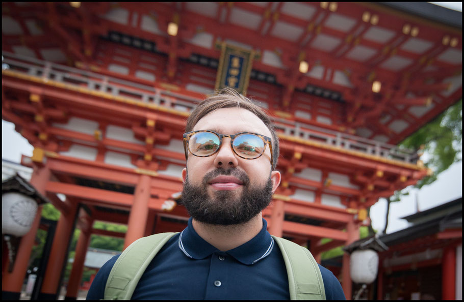 Hasic at a local shrine — Lionel Piguet, Inside Sport: Japan, May 18, 2018