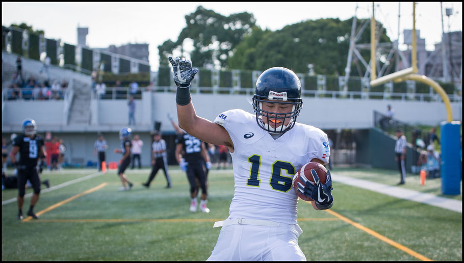 Shunsuke Wada's 3rd Quarter TD was the games first score - John Gunning, Inside Sport: Japan, Oct 9, 2017