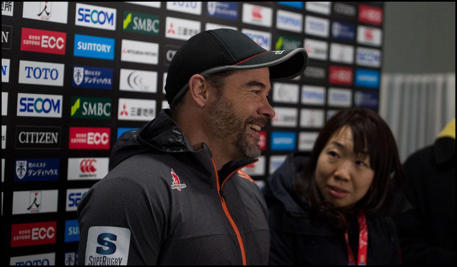 Coach Scott Hansen talks to the media following the Captain's Run – John Gunning Inside Sport: Japan, March 2nd, 2018