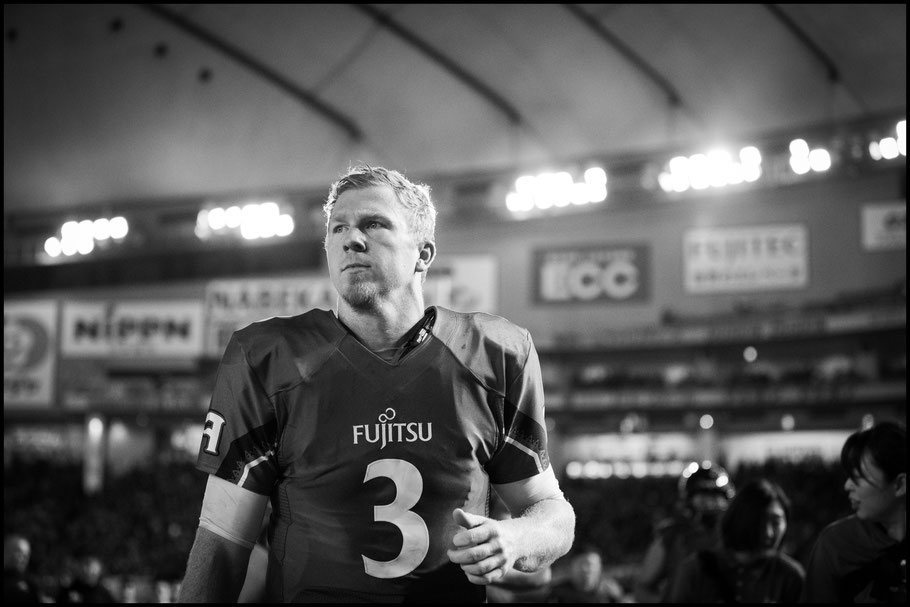 Frontiers QB Michael Birdsong after the game – Sachiyo Karamatsu, Inside Sport: Japan, Dec 17th, 2018