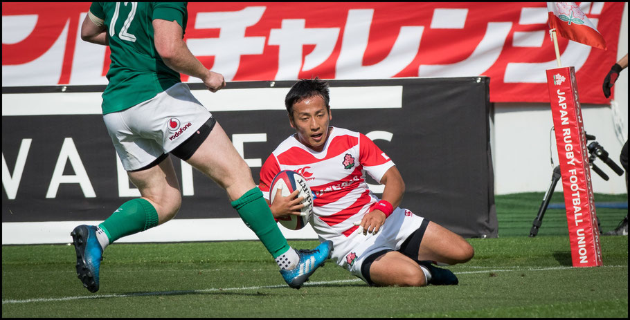 Yutaka Nagare got a consolation try for the home side - John Gunning, Inside Sport: Japan, June 17, 2017