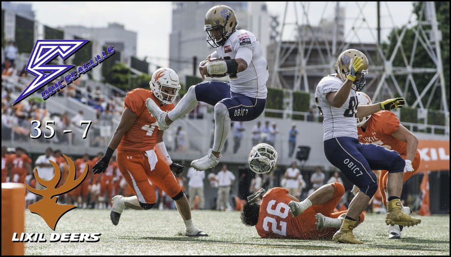 Rookie QB Ikaika Woolsey had two rushing TDs on the day - Chris Pfaff, Inside Sport: Japan, June 4, 2017