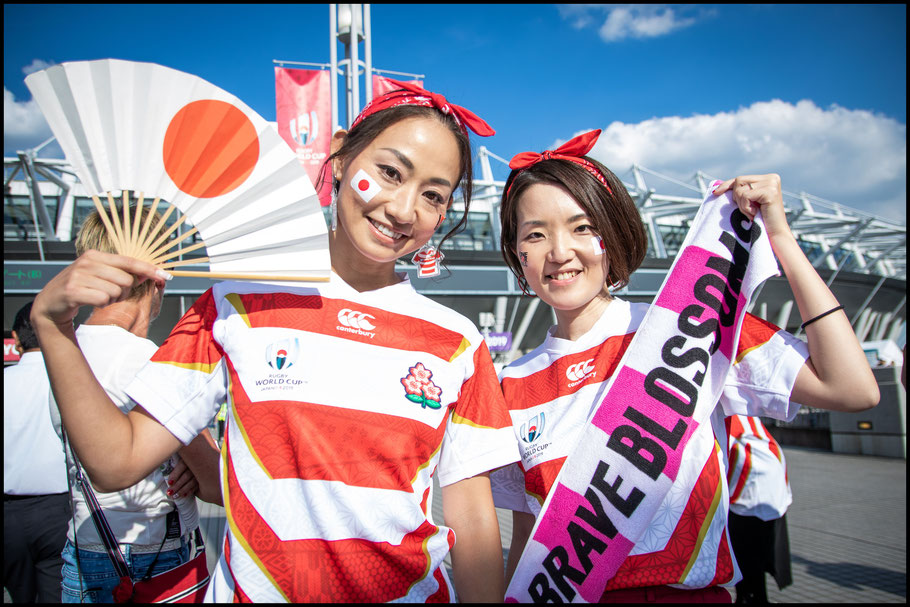 Japanese fans outside Tokyo Stadium – Sachiyo Karamatsu, Inside Sport: Japan, Sept 20, 2019