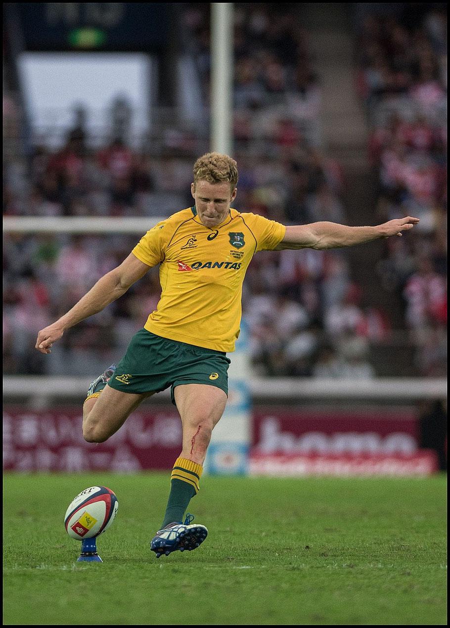 Reece Hodge was part of an Australia side that hammered Japan 63 - 30 last year – Chris Pfaff, Inside Sport: Japan, Nov 4th, 2017