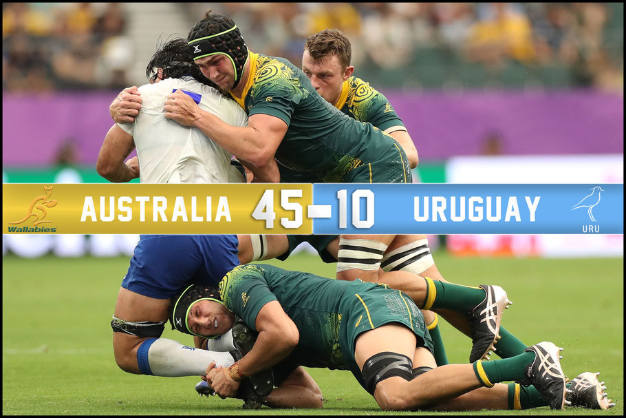 Despite the win Australia wasn't happy with the penalty count – David Ramos, World Rugby / Getty, Oct 5, 2019