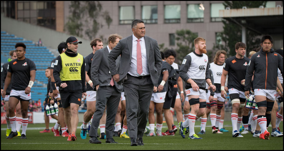 Sunwolves' Head Coach Jamie Joseph before the game – Sachiyo Karamatsu Inside Sport: Japan, April 7th, 2018